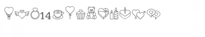 cg a bit of love dingbats Font UPPERCASE