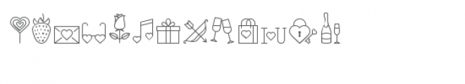 cg a bit of love dingbats Font LOWERCASE