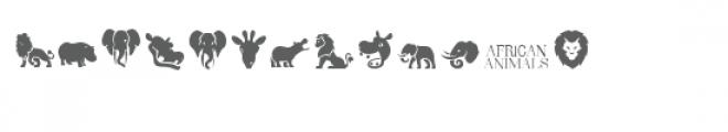 cg african animals dingbats Font UPPERCASE
