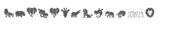 cg african animals dingbats Font LOWERCASE