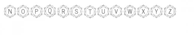 cg alphabet monogram artistic Font UPPERCASE