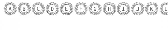 cg alphabet monogram exquisite Font LOWERCASE