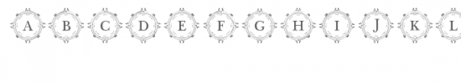 cg alphabet monogram majestic Font LOWERCASE