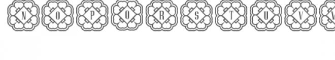cg alphabet monogram rare Font LOWERCASE