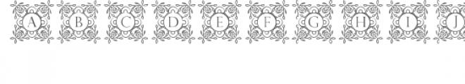 cg alphabet monogram sweetly Font UPPERCASE