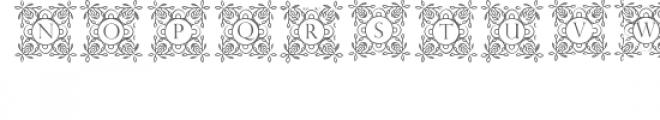cg alphabet monogram sweetly Font LOWERCASE