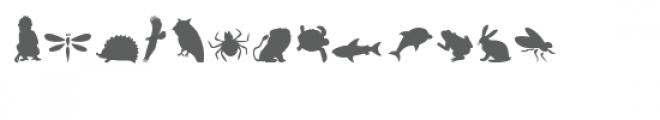 cg animal jamboree dingbats Font UPPERCASE
