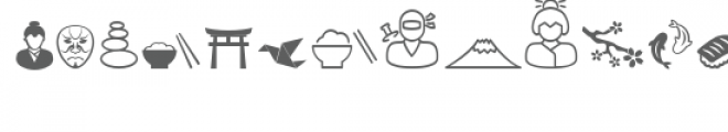 cg asian icons dingbats Font UPPERCASE