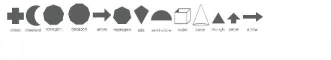 cg basic shapes dingbats Font UPPERCASE