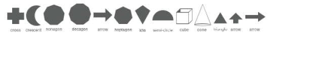 cg basic shapes dingbats Font LOWERCASE
