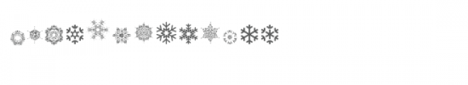cg beautiful snowflakes dingbats Font LOWERCASE