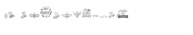 cg bees dingbats Font LOWERCASE
