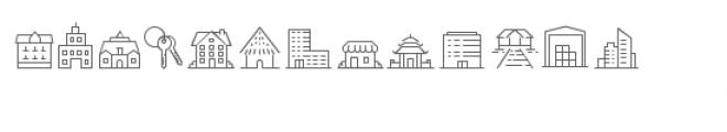 cg buildings dingbats Font LOWERCASE