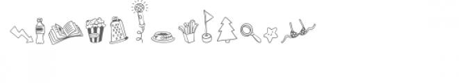 cg busy doodles dingbats Font UPPERCASE