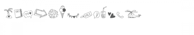 cg busy doodles dingbats Font LOWERCASE