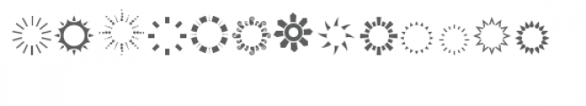cg circle frame shapes dingbat Font UPPERCASE