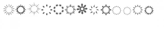 cg circle frame shapes dingbat Font LOWERCASE