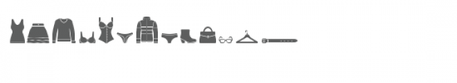 cg clothing pieces dingbats Font LOWERCASE