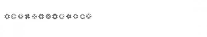 cg cogwheels dingbats Font UPPERCASE