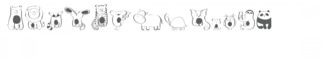 cg cutie animals dingbats Font UPPERCASE