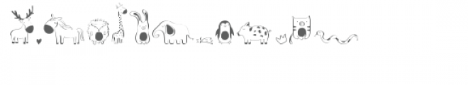 cg cutie animals dingbats Font LOWERCASE