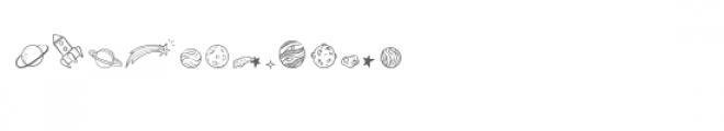 cg doodle outer space dingbats Font LOWERCASE