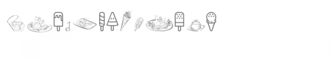 cg doodled treats dingbats Font LOWERCASE