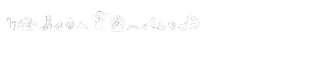 cg drawn christmas dingbats Font UPPERCASE