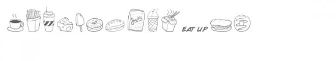 cg fast food dingbats Font LOWERCASE