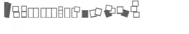 cg filmstrip frame dingbats Font LOWERCASE