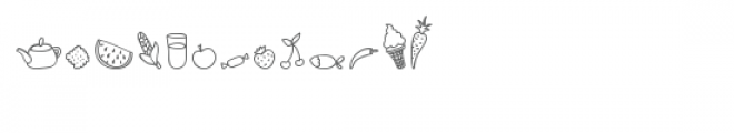 cg food is yum dingbats Font LOWERCASE