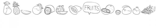 cg fruity dingbats Font LOWERCASE