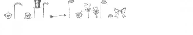 cg heart doodle props dingbats Font LOWERCASE