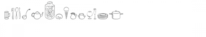 cg in the home dingbats Font LOWERCASE