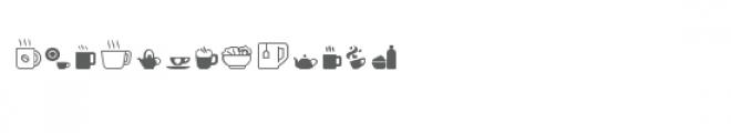 cg let's have tea dingbats Font UPPERCASE