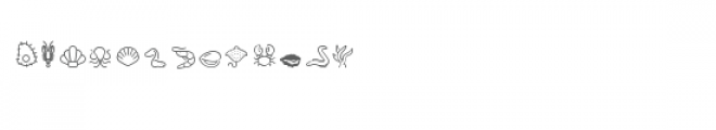 cg line sea creatures dingbats Font UPPERCASE