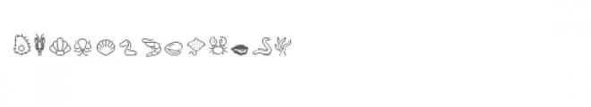 cg line sea creatures dingbats Font LOWERCASE