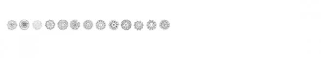 cg mandala circles dingbats Font UPPERCASE