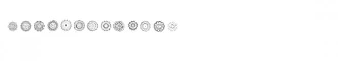 cg mandala circles dingbats Font LOWERCASE