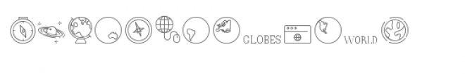 cg maps and globes dingbats Font LOWERCASE