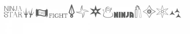 cg ninja dingbats Font LOWERCASE