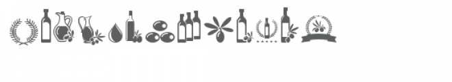 cg olives dingbats Font LOWERCASE