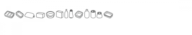 cg pans and boxes dingbats Font UPPERCASE