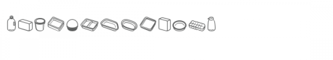 cg pans and boxes dingbats Font LOWERCASE