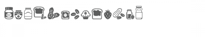 cg peanut butter and jelly dingbats Font LOWERCASE