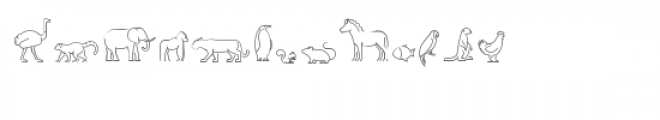 cg perfect line animals dingbats Font UPPERCASE