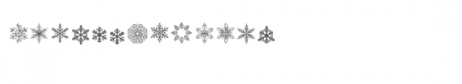 cg powder snowflakes dingbats Font LOWERCASE