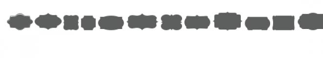 cg pretty shapes dingbats Font UPPERCASE