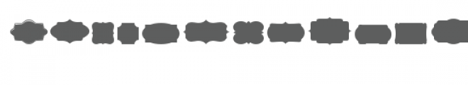 cg pretty shapes dingbats Font LOWERCASE