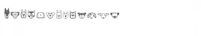 cg puppies dingbats Font LOWERCASE
